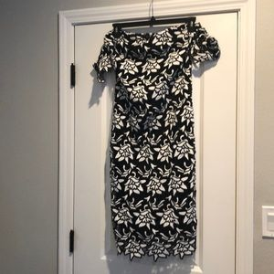 Black and white lacy dress